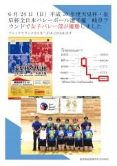 13-バレー部天皇杯・皇后杯岐阜大会優勝
